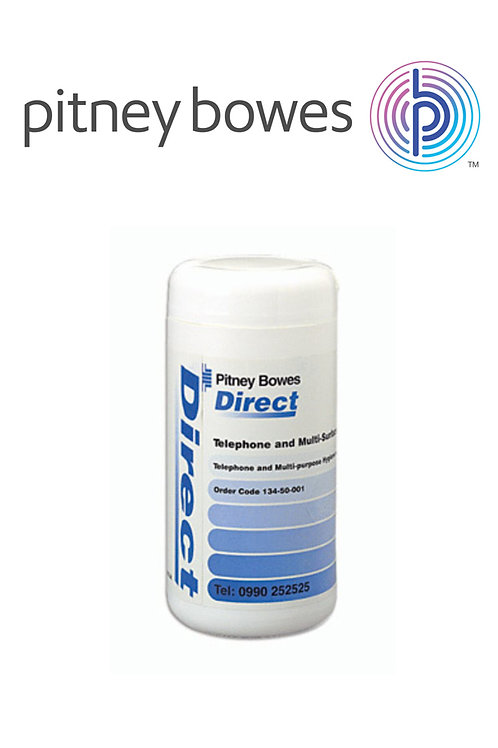 100 Pitney Bowes Telephone and Multi-purpose Wipes