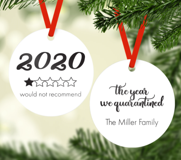2020 The year we quarantined Ornament