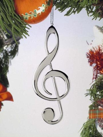 Treble Clef Holiday Ornament