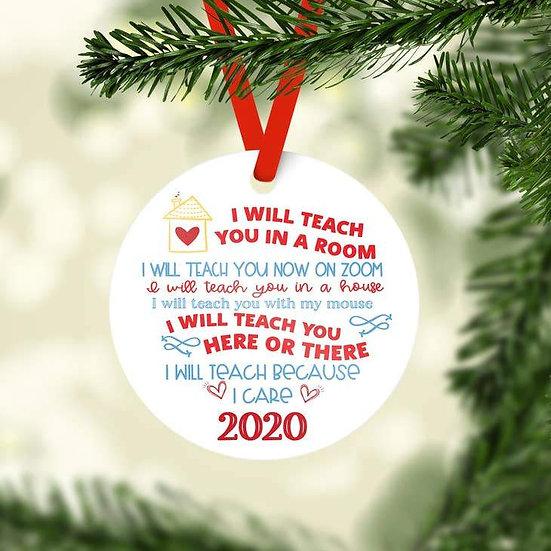 2020 Teacher Holiday Ornament