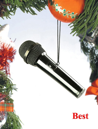 Microphone Holiday Ornament