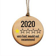 2020 One Star Review Ornament
