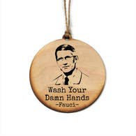 Fauci Wash Hands Holiday Ornament