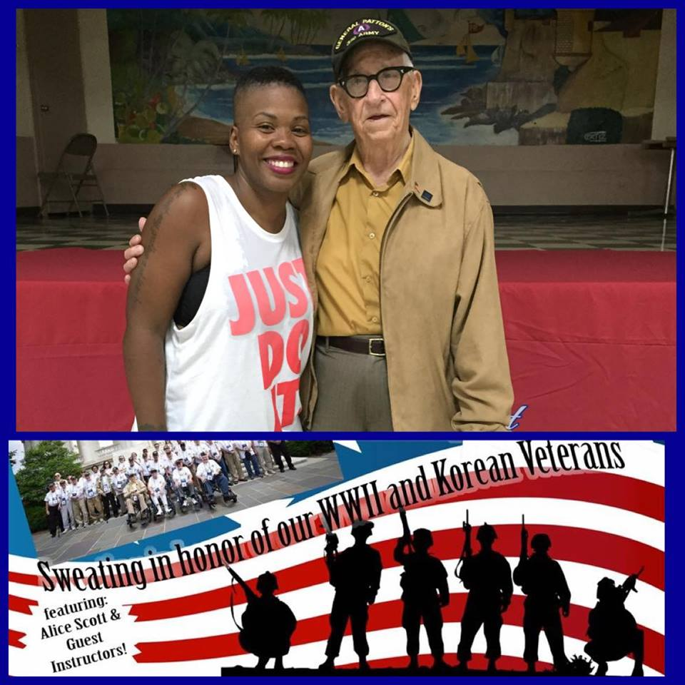 Zumbathon for WWII Veterans