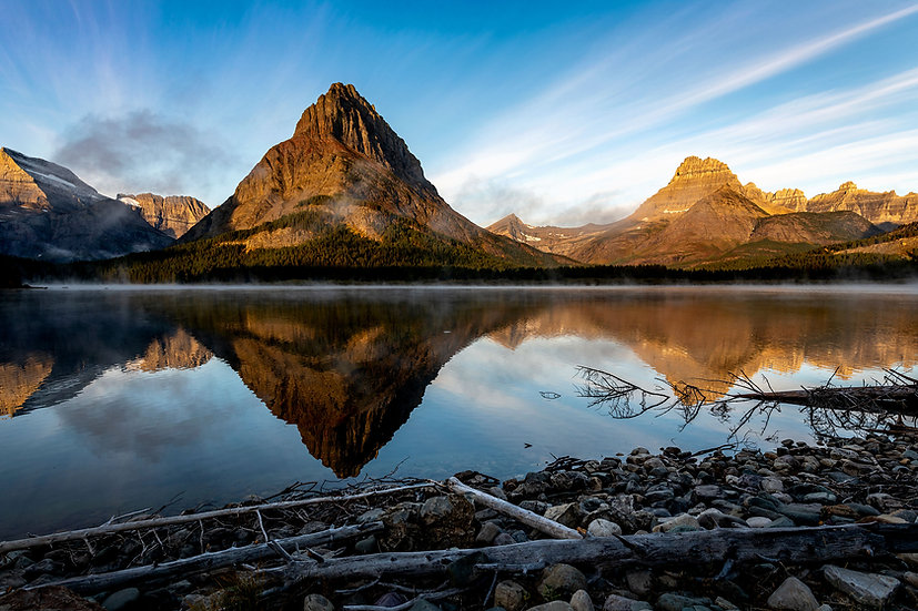 Reflections of Swiftcurrent Lake