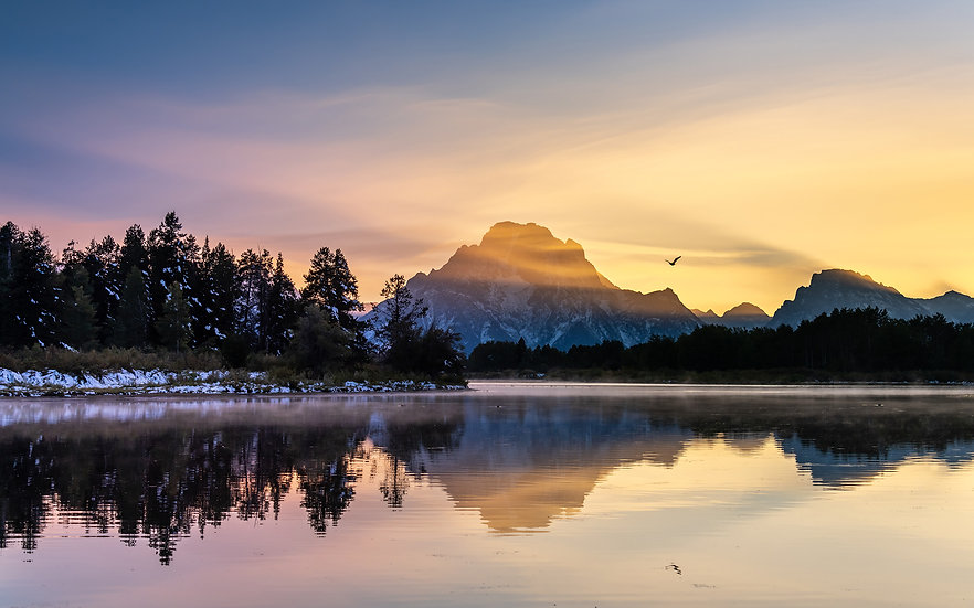 Oxbow Bend at Dusk