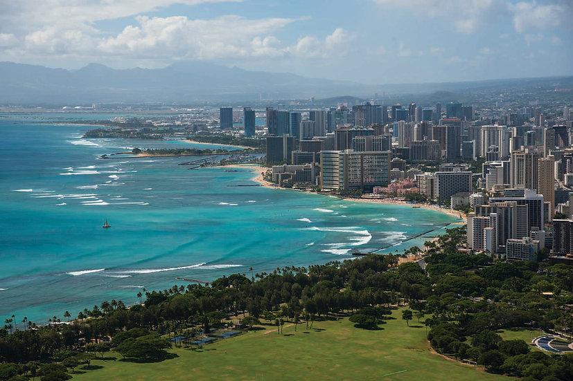 Waikiki Beach from Diamond Head