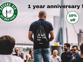 Around010 bestaat 1 jaar en dat vieren wij met jou!