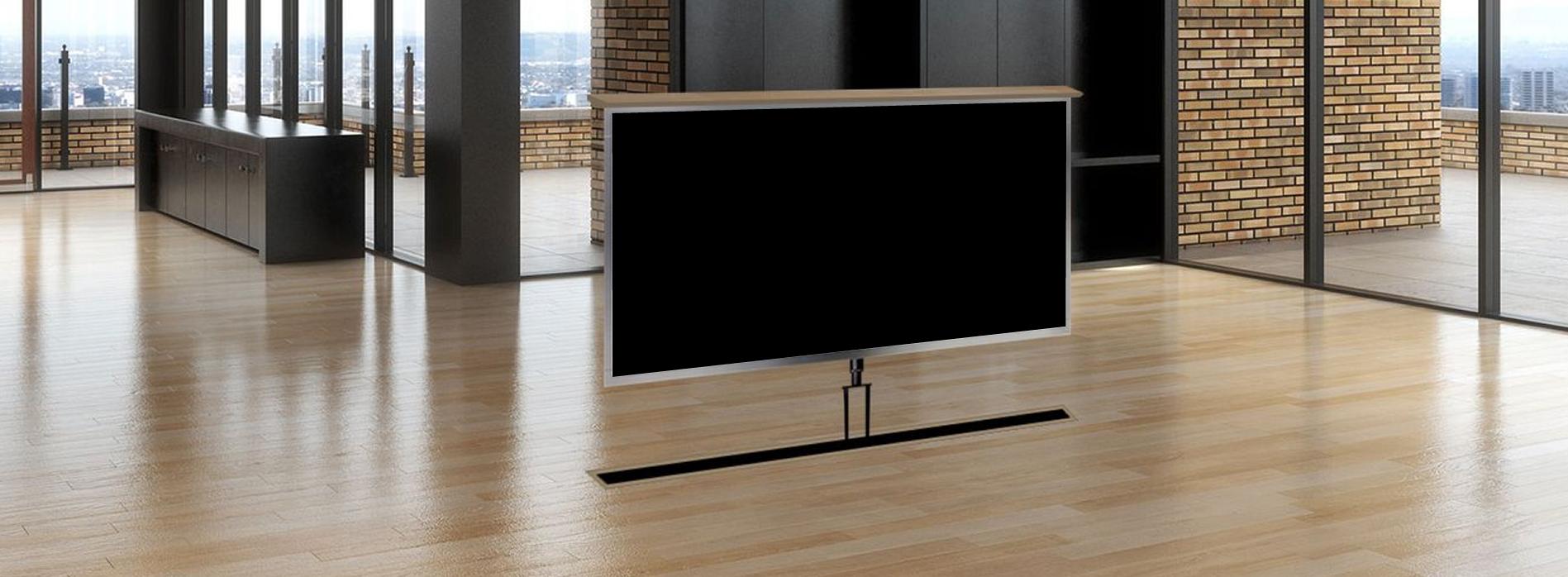 Long-Island-Installation Under Floor TV