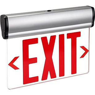 Edge Lit NYC Approved Exit Sign In Stock