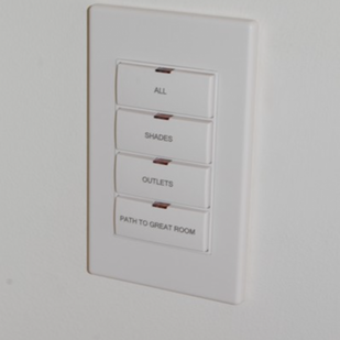 New Jersey Kitchen Keypad from Crestron Home Automation