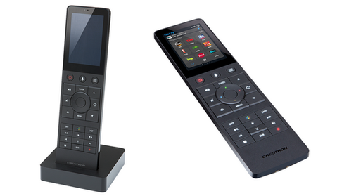 Crestron Touchscreen Remote Control for Home Automation