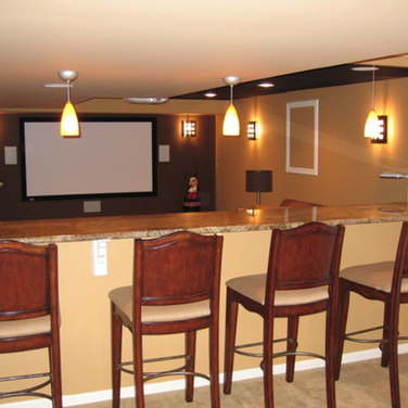 Basement Bar Ideas With Home Theater