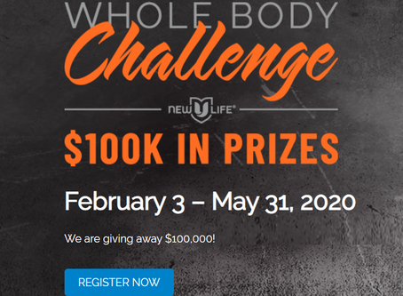 Whole Body Challenge, What Is It? And How You Can WIN $30,000.00, $20,000.00 or $10,000.00!!