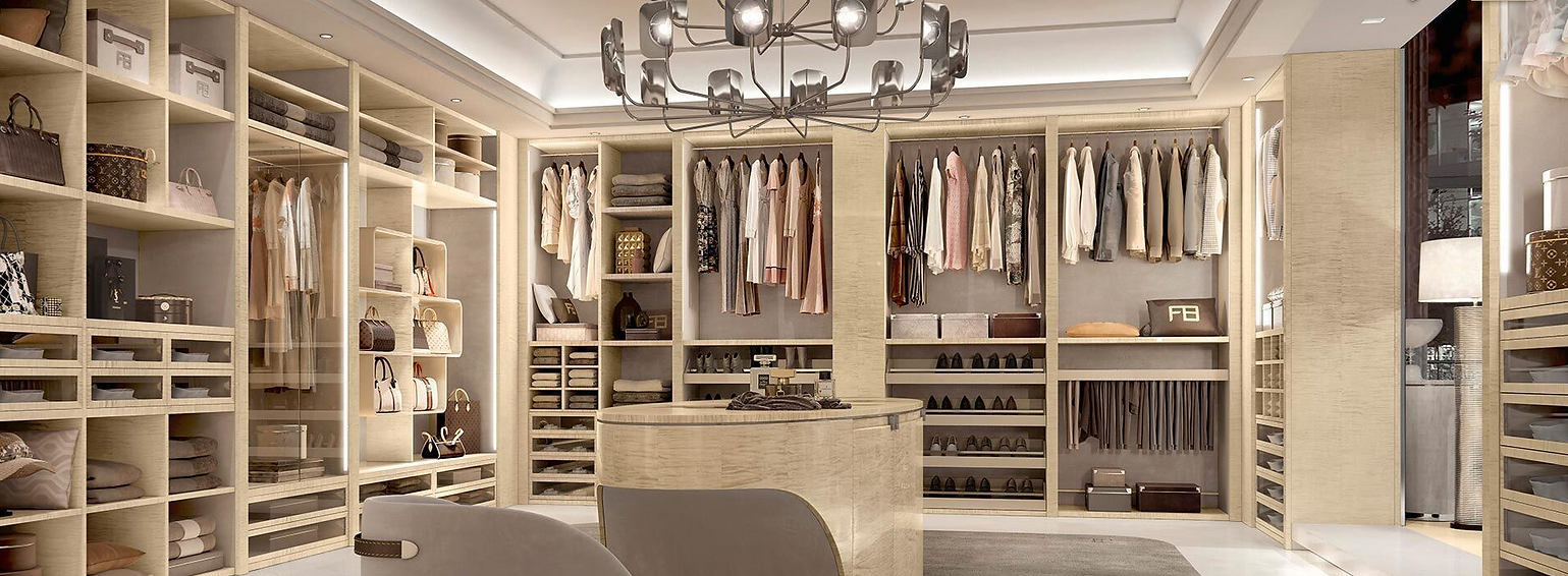 Luxury Walk In Closet Ideas TV Installat
