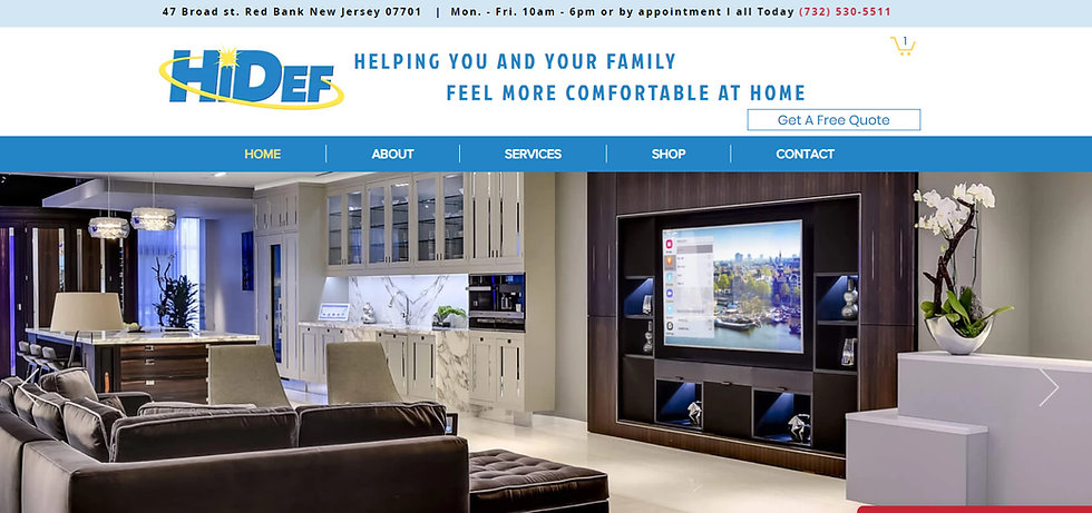 Web design company for Crestron New Jersey