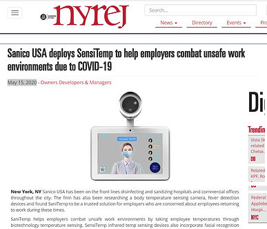 Sanico USA Body Temp Camera  News Articl