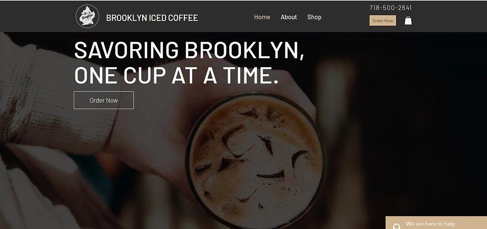 Brooklyn Iced Coffee Website Design Firm