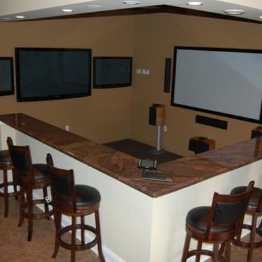 New Jersey Shore Basement Bar Room Design And Installation
