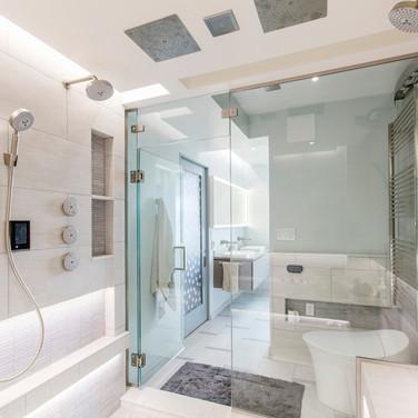 Bathroom Ideas For Shower Speaker and TV Installation