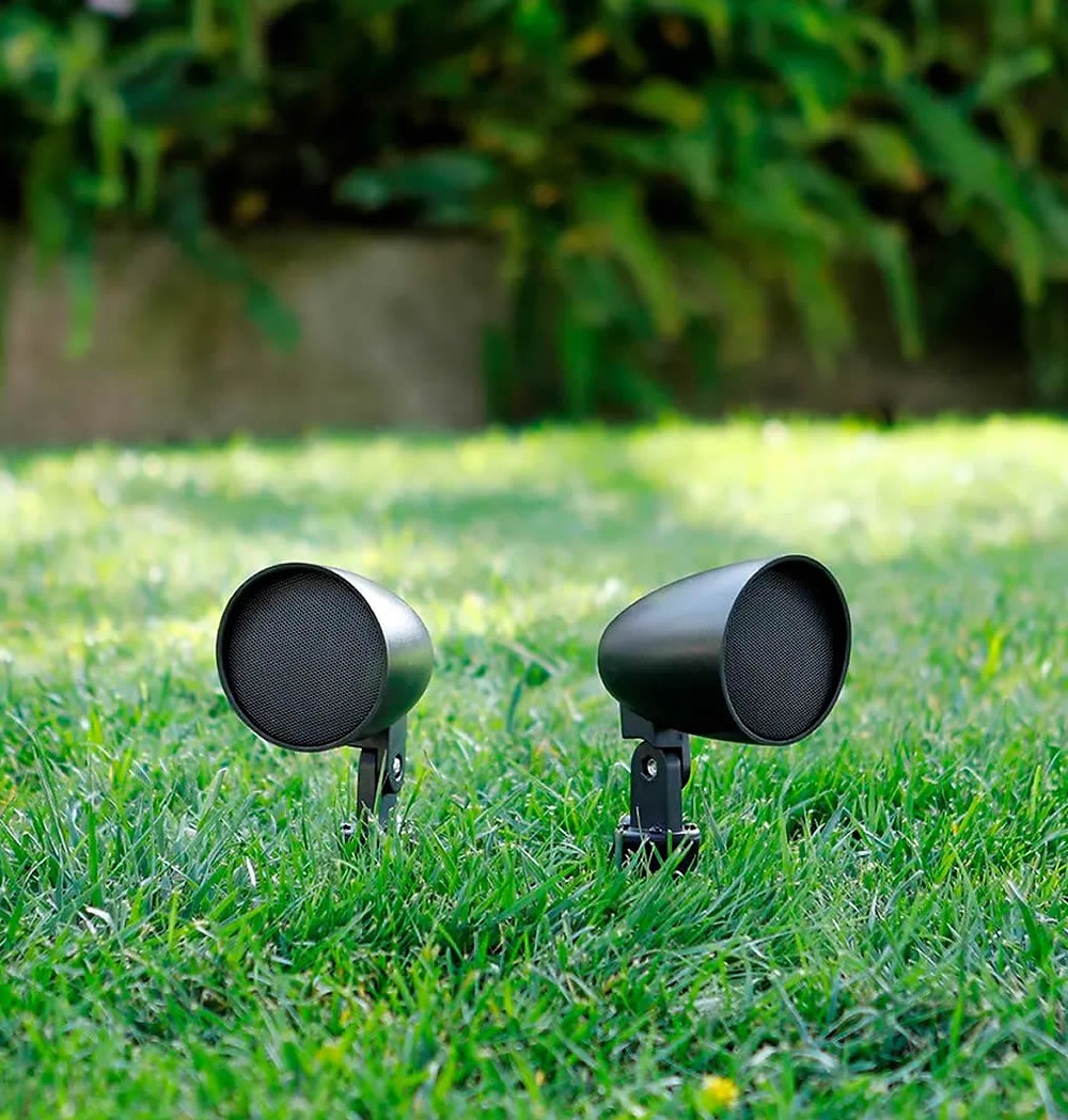 Monoprice Outdoor Satellite Speakers for landscape sound system