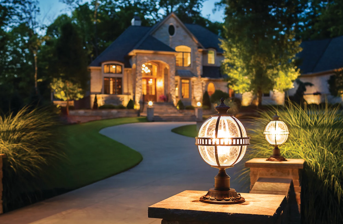 NJ Landscape Perimeter Lighting Installation