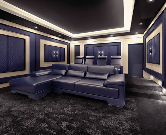New Jersey Home Theater Seating With Couch