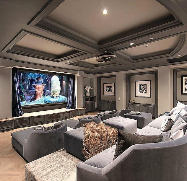 Home Theater Ideas In Grey