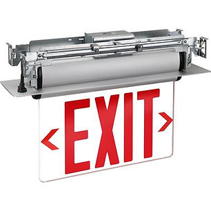 NYC Double Sided Clear LED Exit Sign Wholesale