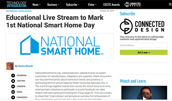 Smart Home News Technology Integrator.fw