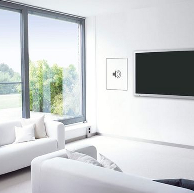 Invisible Speaker From Stealth Acoustic with Flat Screen TV Install