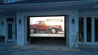 Backyard projector screen Installation NJ