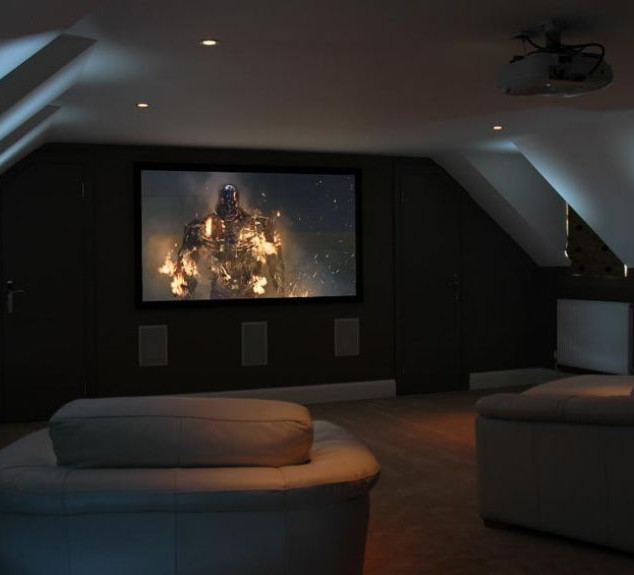 Attic Room Ideas Projector Mount and Screen