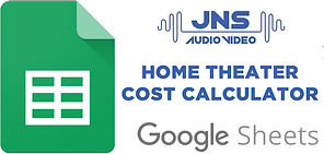 Home Theater Cost Calculator Google Shee