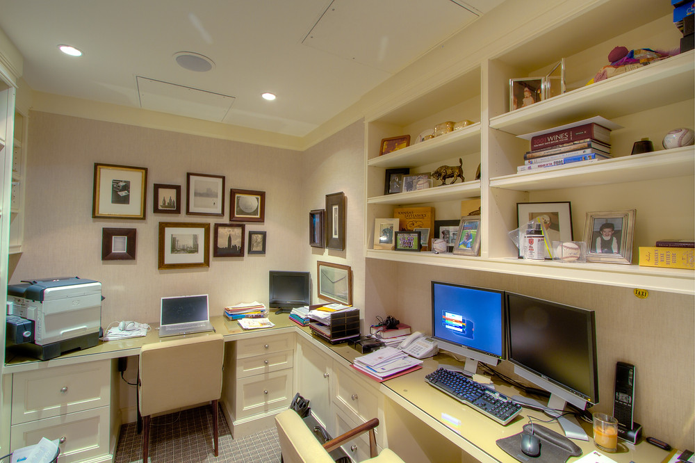 Home Office design with speakers