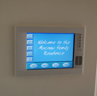 In Wall Touchscreen by Crestron Home Kitchen Ideas