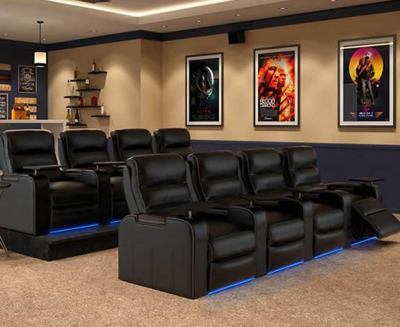 New Jersey Home Theater Seating