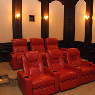 Home Theater Ideas with Dark Wood