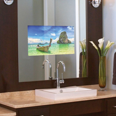 Smart Vanity Mirror TV Installation for Muttontown Jersey Shore NJ