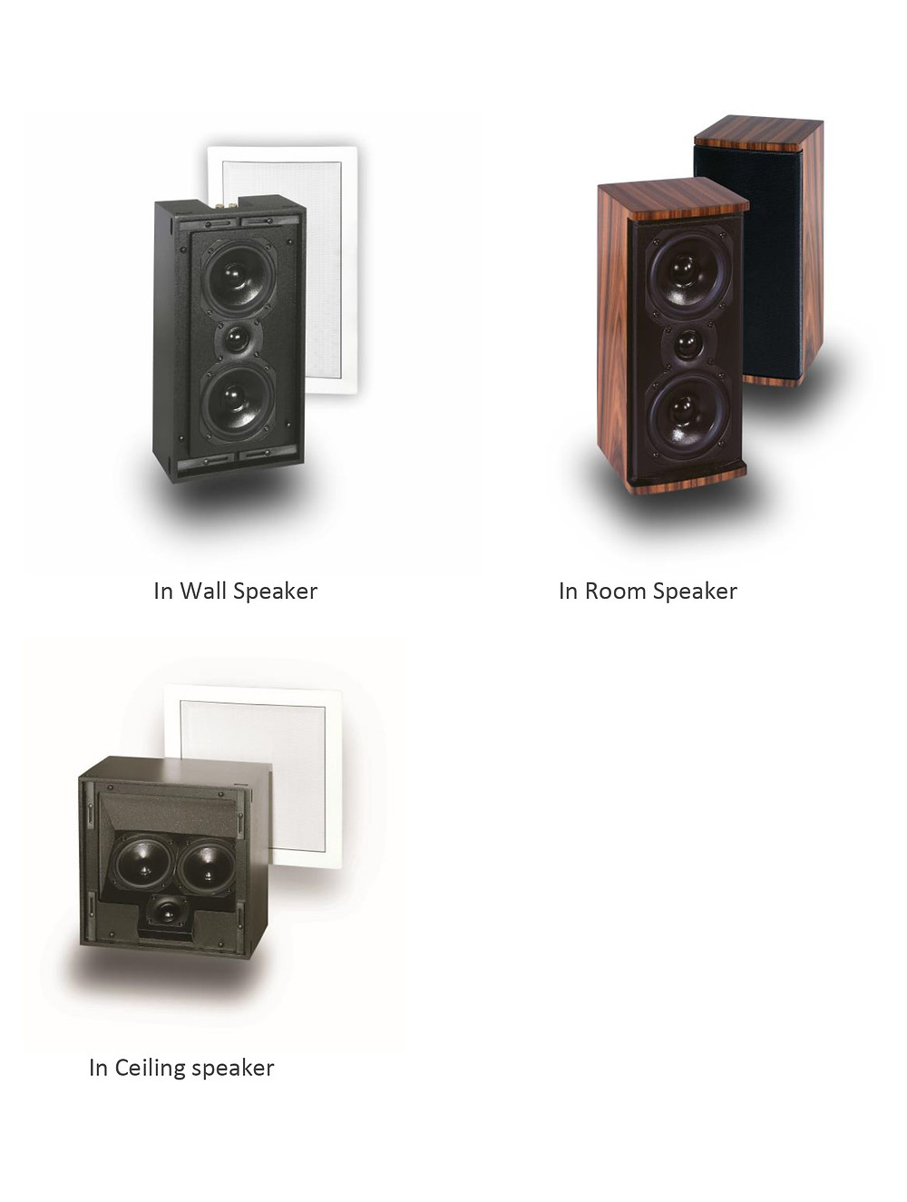 In-Wall Speakers - On-Wall Speakers - In-Ceiling Speakers