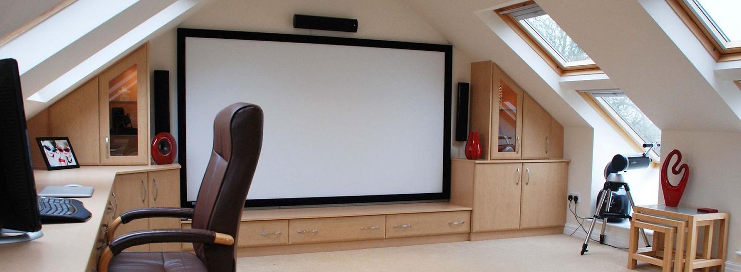 Attic Ideas for home theater surround so