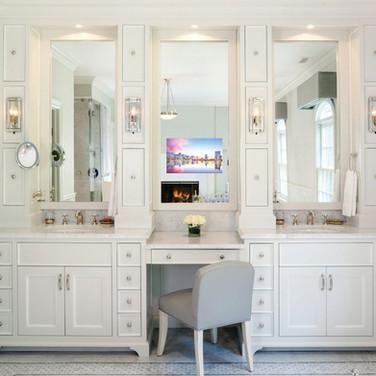 Bathroom Ideas For Vanity Smart Mirror TV Installation Rumson NJ