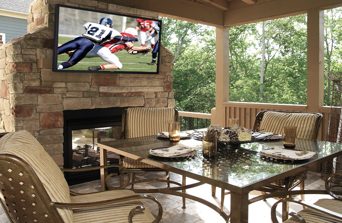 NJ TV Installation Patio Fireplace Mount