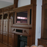 Custom Woodworking Mirror TV Installation