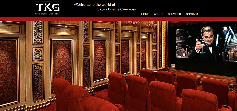 Luxury Home Theater Architectural Design