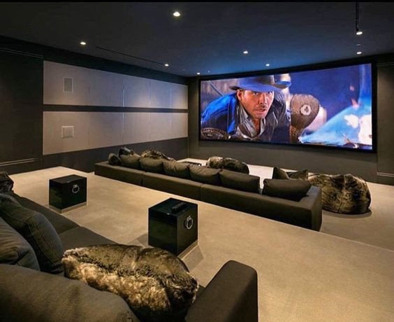 Home Theater Ideas Open layout