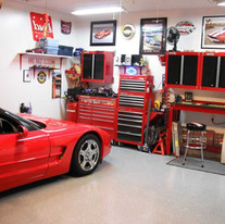 New Jersey Car Garage Ideas With Sonos System And Security Cameras