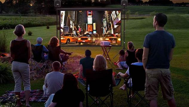 Deal NJ Backyard Projector Screen