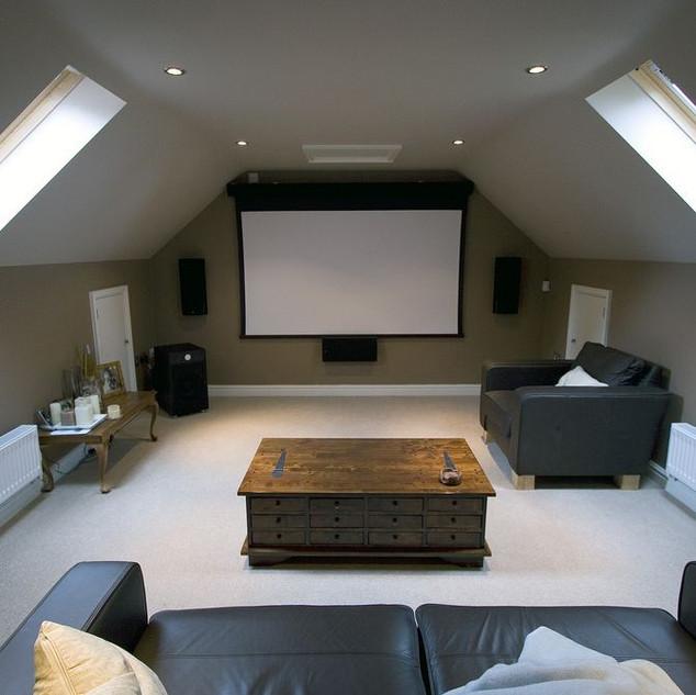 Attic Room Ideas For Home Theater Room NJ