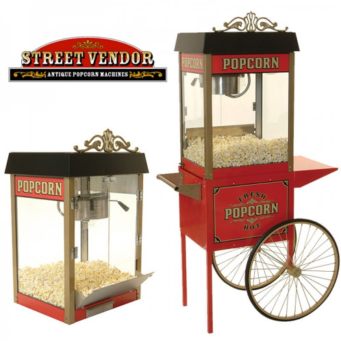 Home Theater Popcorn Machine and Trolly Street Vendor